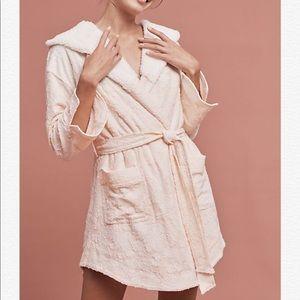 Anthropologie blush bathrobe